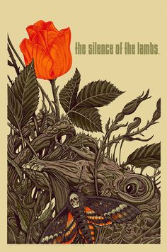 Silence of the Lambs Poster by Florian Bertmer  (Onsale Info)