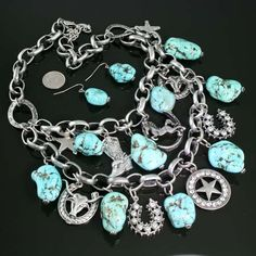 Western Style Charm Necklace, $22.00
