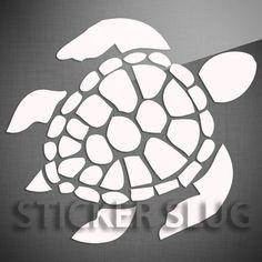 SEA TURTLE Ocean Animal Decal Sticker - Vinyl Custom Wall Art Window Car 1053-TI | eBay $6.95