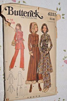 Vtg Butterick 6311 Womens Coat Jackets 16 Sewing Pattern #McCalls