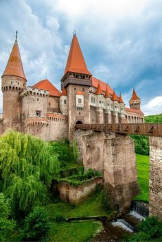 The Corvin castle in Romania is often cited as the inspiration for Bram Stoker& Dracula. Regardless if that is true or not, it definitely fits the vampire theme for me. Check out 20 more of the Most Beautiful Fairy Tale Castles in the World! Beautiful Fairies, Beautiful Castles, Beautiful Buildings, Beautiful World, Beautiful Places, Places Around The World, Around The Worlds, Germany Castles, Fairytale Castle