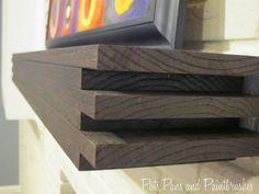 DIY Modern Floating Mantel Shelf | featured on Remodelaholic.com #buildit #mantel #shelving @Remodelaholic .com .com