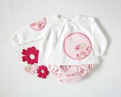 A knitted sweater with diaper cover a sweet pink by tenderblue