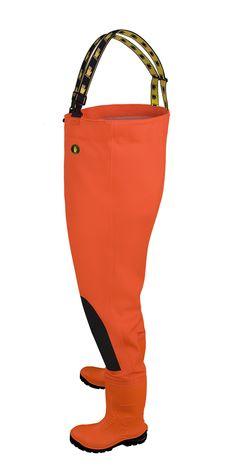 """VADEADORES """"MAX S5"""" FLUO Modelo: SBM01 FLUO Vadeadores impermeables de mayor resistencia a los daños mecánicos, con botas de goma de alta calidad integradas y con plantilla antiperforante. Tienen refuerzos en las rodillas, tirantes de un elástico ancho y la cintura regulable. Modelo hecho de un tejido impermeable y resistente Plavitex Heavy Duty Fluo. Aseguran la protección eficaz contra el agua. Destinados para el uso en las condiciones de visibilidad reducida. La técnica del sellado…"""