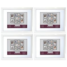 Buy Mix and Match 11-Inch x 14-Inch Picture Frame in White (Set of 4) from Bed Bath & Beyond