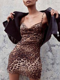 3dd8516d560e Shop Sexy Leopard Print Slinky Bodycon Slip Dress right now, get great  deals at Joyshoetique.