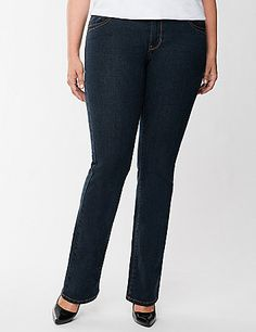 If you have a not-so-curvy body type with straight lines from the hip through the leg, our straight fit jean was made for you!