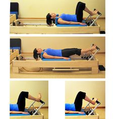 Photo Reference for Beginner Pilates Reformer Workout: The Footwork