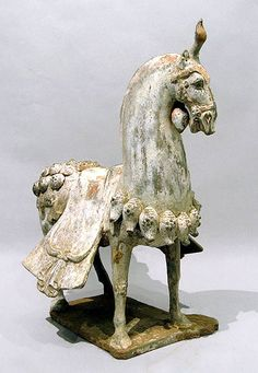 Caparisoned Horse from the time of the Northern Qi Dynasty, 386-535 AD.