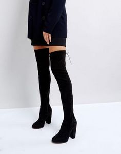 ASOS KINGSHIP SLIM Heeled Over The Knee Boots