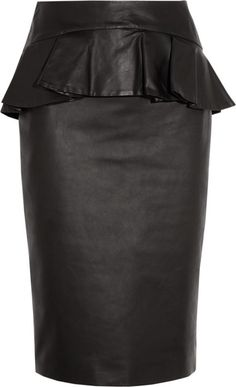 Love this leather Peplum skirt!