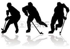 Bildergebnis für black silhouette hockey player