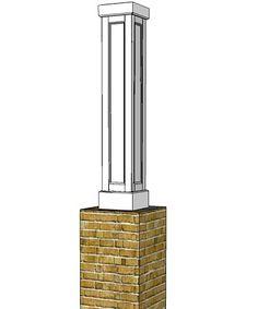 "12"" X 12"" x 6' RECESSED PVC Column Wrap Kit"