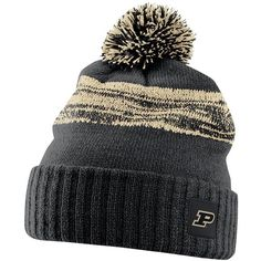 bc8fc712e08 Keep warm on game day while cheering on your favorite team in this men s  Nike Purdue Boilermakers Striped Knit Beanie.