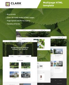 Website Template , Clark Exterior Design Responsive