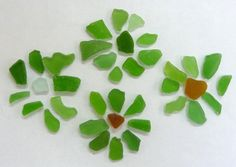 French GREEN beach SEA GLASS vintage by Seacraft on Etsy