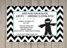 Ninja / Karate Birthday invitations by LittleLawsPrints on Etsy, $25.95