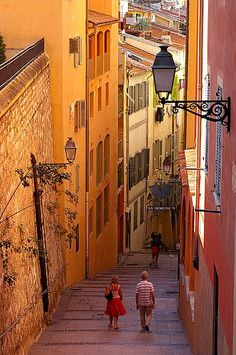 Beautiful colors of old town Nice, France