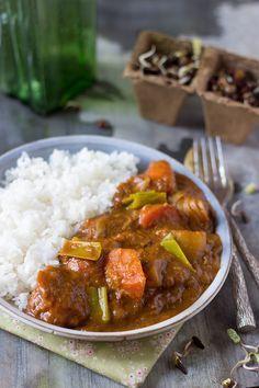 Curry japonais vegan (roux fait avec de l'huile d'olive)