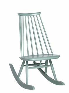 Mademoiselle rocking chair, NEW COLOR SAGE GREEN, design Ilmari Tapiovaara - ARTEK. Would like to get this on but in black.