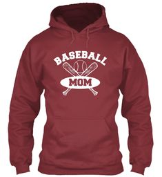 Baseball Mom Shirts 167 Maroon T-Shirt Front