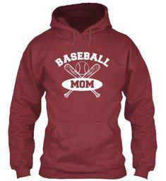 Baseball Mom Shirts 167 Maroon T-Shirt Front