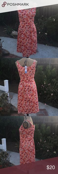 Ann Taylor Loft Sleeveless Dress Brand new, with tags, sleeveless dress from Ann Taylor Loft! This dress has no stains and no tears! Dress and lining are 100% cotton there is a zipper on back  perfect for the spring or summer  Ann Taylor Dresses