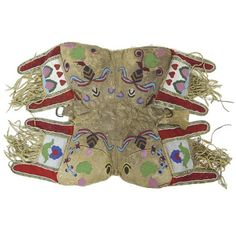 beaded saddle possibly Cree or Metis