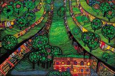 Friedensreich Hundertwasser - Grüne Stadt (Green Town)