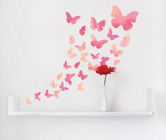 fabric watercolour butterfly wall stickers by parkins interiors | notonthehighstreet.com