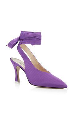 Attico - Kim purple lace-up pumps