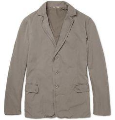Bottega Veneta Unstructured Slim-Fit Washed-Cotton Jacket | MR PORTER