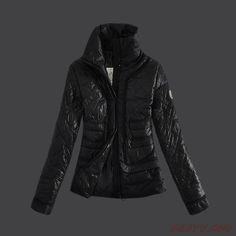 Blouson hiver Moncler Down Manteau Femmes 2013 Style Noir