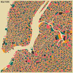 """New York"" Art Print by Jazzberry Blue on Society6."
