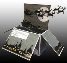 White Square Pop-Up Box Card Other Papers:  Ionized Metallic, Black Glossy, Lemon Drop, Ice Gold Metallc