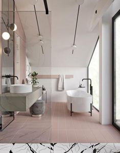 What are the current trends in bathroom design? Are there any specifics? Like any other part of the home, the bathrooms are sensitive towards fashion and design bathroom decor Bathroom Trends 2019 / 2020 – Designs, Colors and Tile Ideas Bathroom Colors, Bathroom Inspiration, White Bathroom Designs, Bathrooms Remodel, Bathroom Decor, Room Tiles, Bathroom Flooring, Tile Bathroom, Bathroom Trends