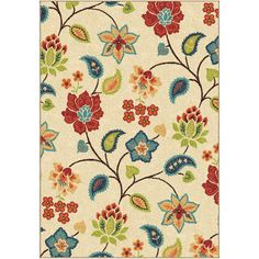 Found it at Wayfair - Garden Chintz IvoryIndoor/Outdoor Area Rug