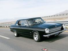 1964 Dodge Dart black slotted mags