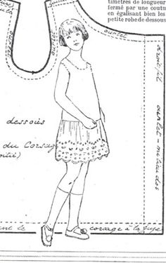 SEMAINE de SUZETTE_Bleuette Pattern, 1928 Cute & simple Summer dress