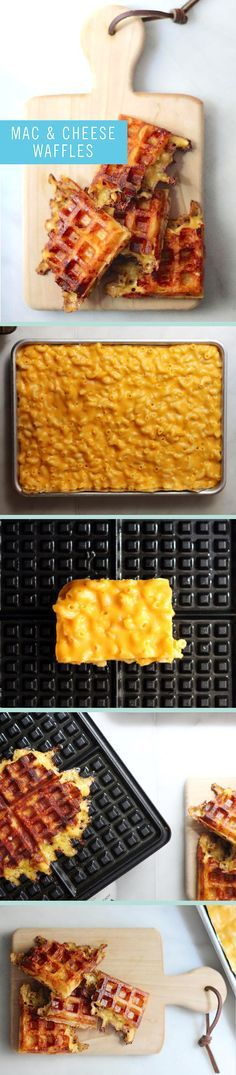What do you get when you combine two ultimate comfort foods? An absolutely delicious meal! Mac and cheese waffles is definitely what's on our menu tonight for dinner.