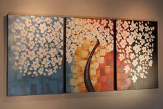 "Overall Dimension: 62""x27.5""/160x70cm - Original Triptych Wall Art under $300 from Studio Mojo Artwork Canada"