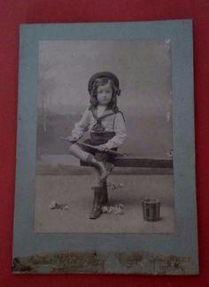 Antique French photo Marine Child Photo ancienne
