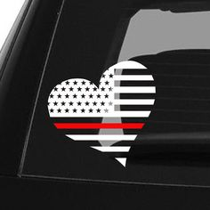 Thin Red Line Decal Back the Red Firefighter car decal Yeti decal heart Flag firefighter decor Fireman Flag Sticker first responder decal