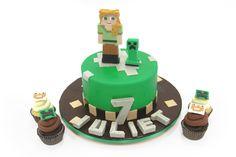 Minecraft Birthday Cake & Cupcakes » Birthday Cakes