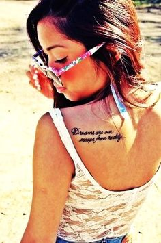 Shoulder Sexy Short Love Quote Tattoos for Girls - Cute Short Love Quote Tattoos for Women #qoute # tattoo #shoulder