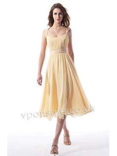 Splendid Knee Length Chiffon Bridesmaid Dress VPBNS038