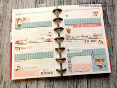 The Cricut Bug: Fox Mini Happy Planner Weekly Pages