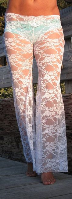 Lace PJ Pants - cute for around the house!