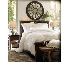 """Pottery Barn's Hadley Ruched Duvet Knock Off Here's what you need: 3 King size Flat sheets(this is for a queen bed)- 15 each at Walmart 4 or 5 packs of 1"""" wide Twill tape- around a $1 each...I think...(you could also use bias tape here) White thread Pins Scissors"""