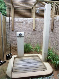 outdoor shower for the pool!   As if
